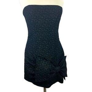 BCBG Maxazria Dots Big Bow Dress Size 10